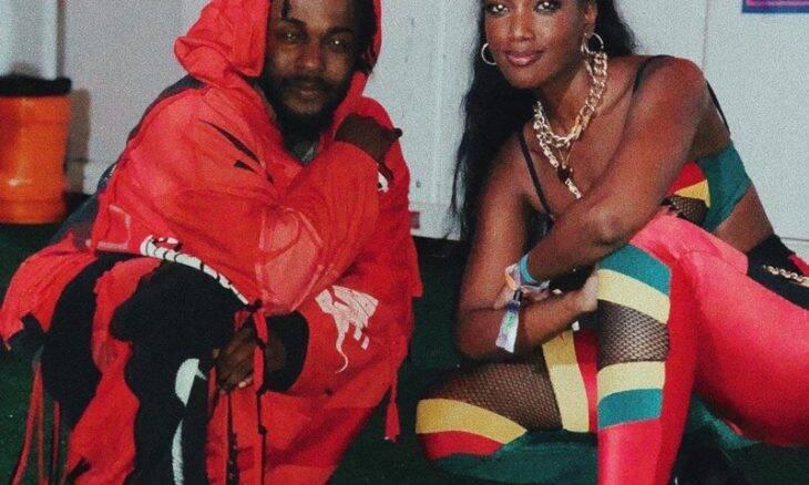 A cantora Iza com o rapper Kendrick Lamar