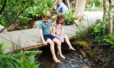 Os príncipes George e Charlotte, filhos de William e Kate / Foto: Reprodução Instagram
