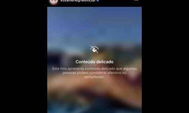 """Xuxa posa de topless na laje e Instagram classifica como """"ofensivo ou pertubardor"""""""