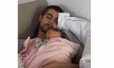 Tatá Werneck posta foto de Rafael Vitti com Clara Maria: ''Momento precioso''