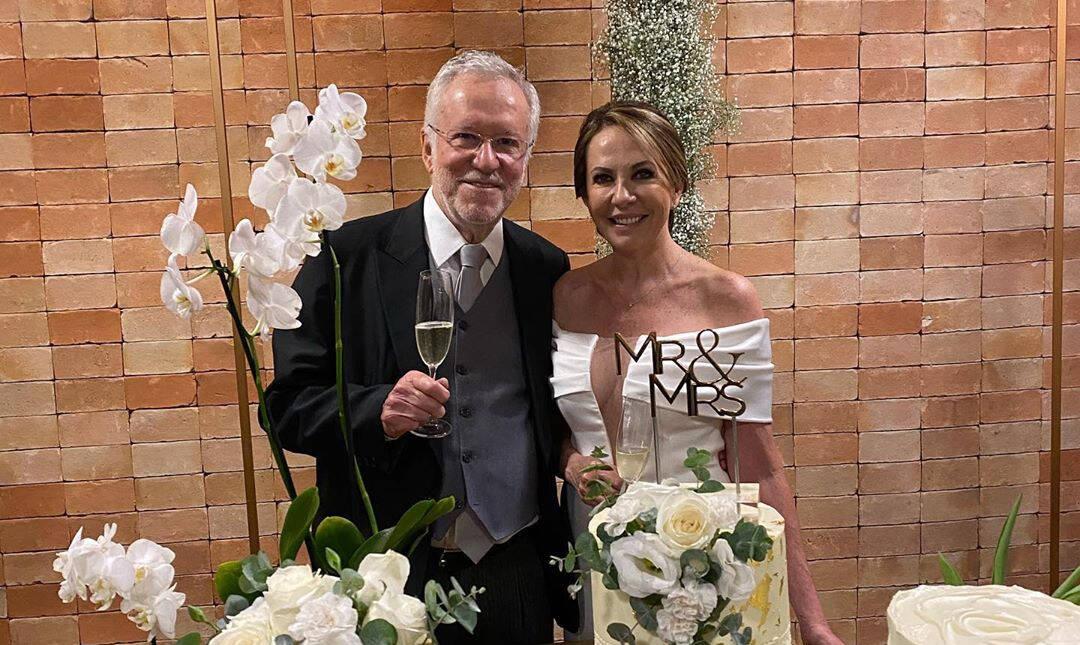 Alexandre Garcia se casa aos 79 anos em Brasília