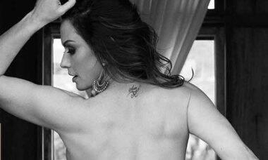 """Nubia Oliiver pergunta a fãs sobre bumbum tatuado: """"Gostam?"""""""