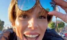 Ana Furtado usa óculos especial para ver cores e se emociona