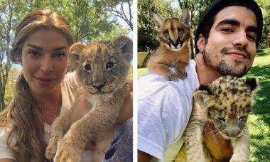 Luisa Mell critica Caio Castro e Grazi Massafera por fotos com animais