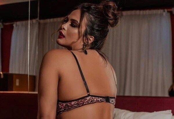 Geisy Arruda posa de lingerie e provoca seguidores