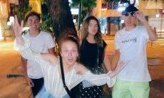 Larissa Manoela e Maísa Silva curtem noite com namorados