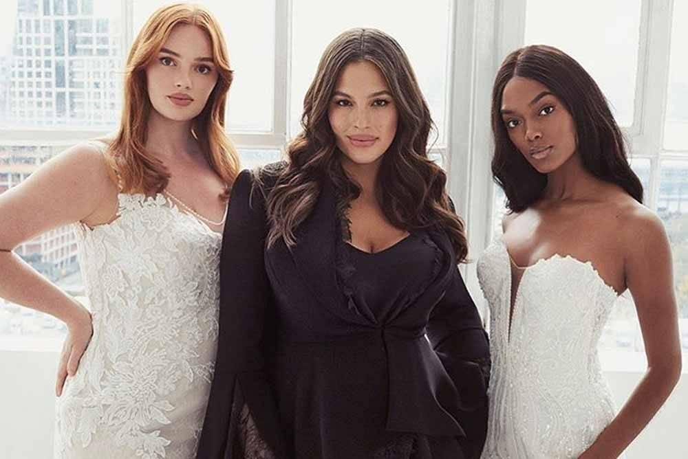 Ashley Graham cria coleção de vestidos de noiva para todos os corpos