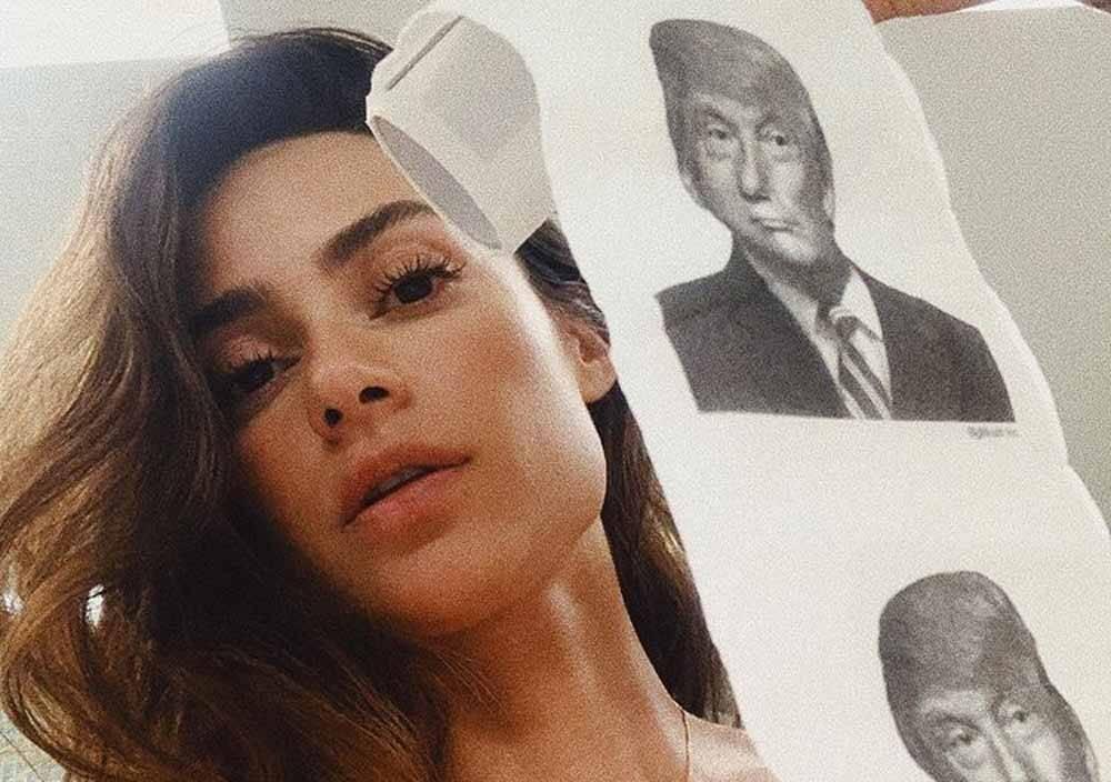 Thaila Ayala provoca Donald Trump em rede social