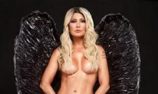 Com asas, Antonia Fontenelle posa completamente nua