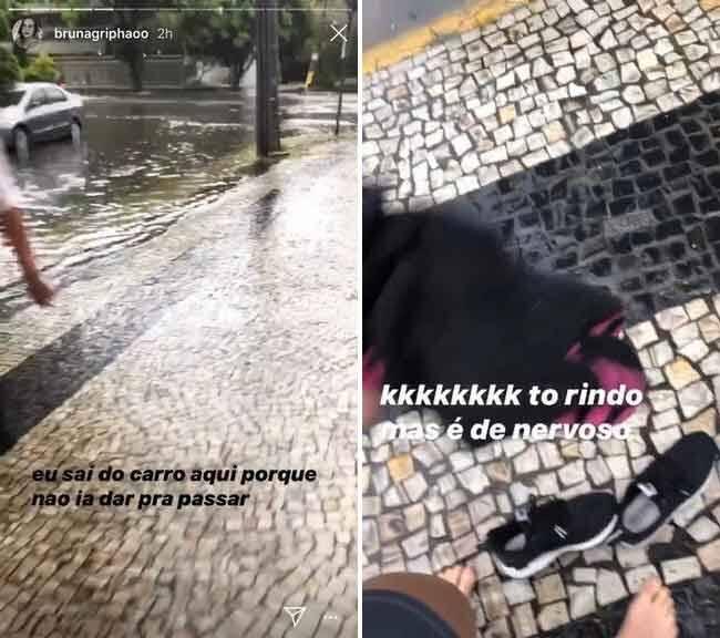 Griphao enfrenta dilúvio no Rio de Janeiro para ir à academia
