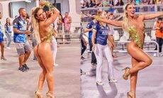 Em clima de carnaval, Tati Minerato exibe boa forma em fantasia ousada