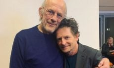 Michael J. Fox e Christopher Lloyd se reencontram em evento