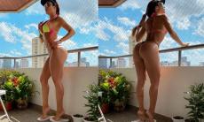 """Denise Dias a """"musa da marquinha"""" dá um jeito para manter o bronzeado"""