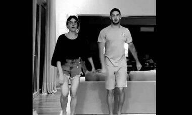 Alexandre Pato e Rebeca Abravanel, mostram vídeo de como estão passando a quarentena