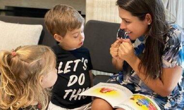 Thais Fersoza mostra momento fofo com os filhos