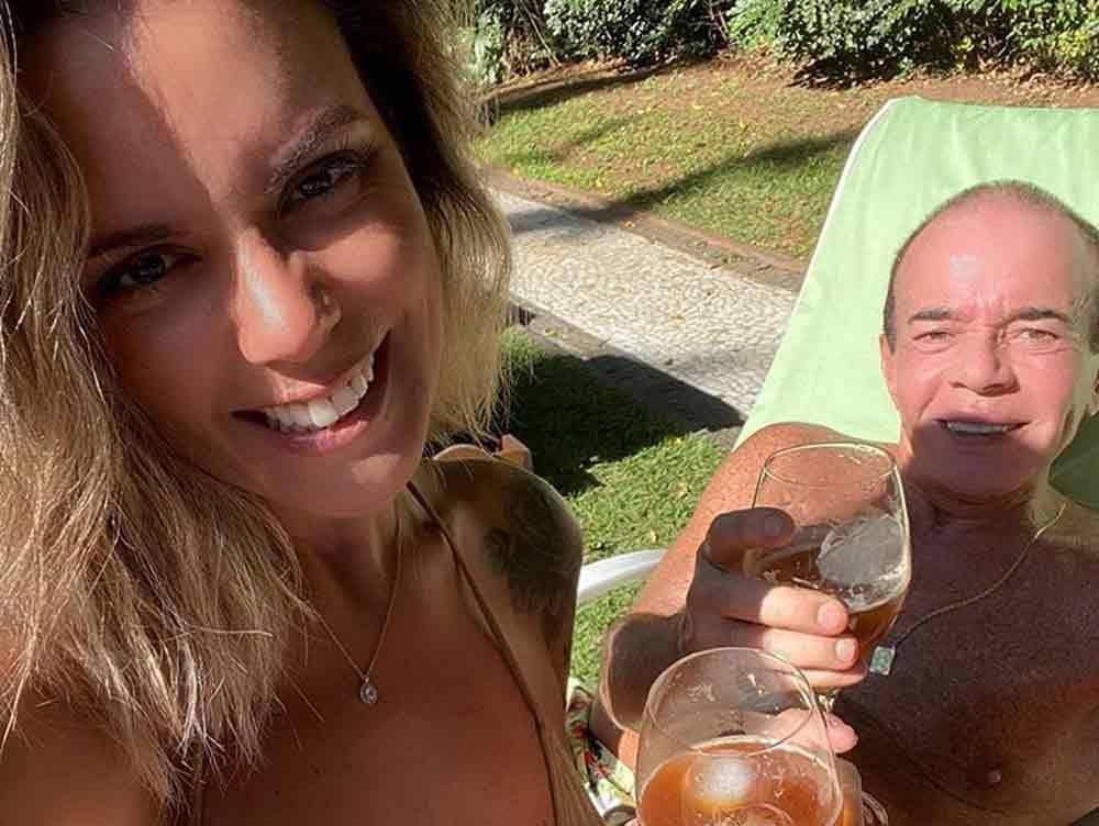 Chiquinho Scarpa faz declaração de amor para a namorada Fernanda Rizzi no aniversário de 39 anos