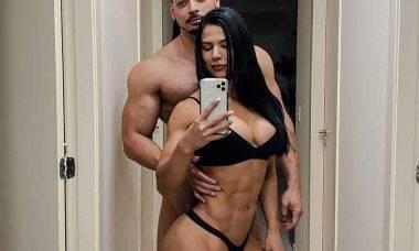 Musa fitness Eva Andressa e Felipe Franco assumem romance de forma inusitada