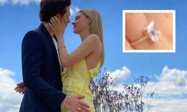 O anel de noivado de diamantes do filho de Beckham com Nicola Peltz é avalisdo em mais de R$2.3 milhões