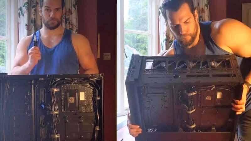 Henry Cavill o ator de Superman, vira sensação com vídeo montando PC Gamer