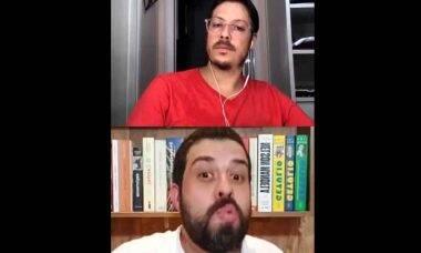 Esposa de Fábio Porchat aparece nua em live com Guilherme Boulos