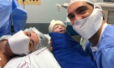 Giba anuncia nascimento da terceira filha