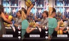 Dona de restaurante quebra obra Romero Britto na frente do artista; veja o vídeo