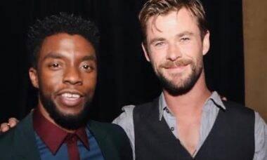 Chadwick Boseman e Chris Hemsworth