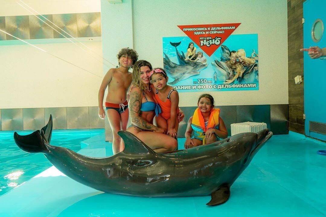 Dani Souza e os filhos