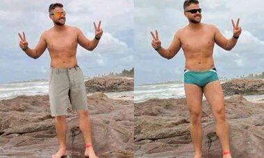"""Sertanejo Zé Neto reposta foto proibida """"vestindo"""" bermuda. Foto: Instagram"""