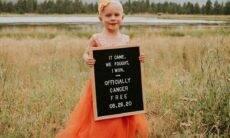 Lula Beth de 4 anos comemora no Instagram estar livre do câncer. Foto: Instagram