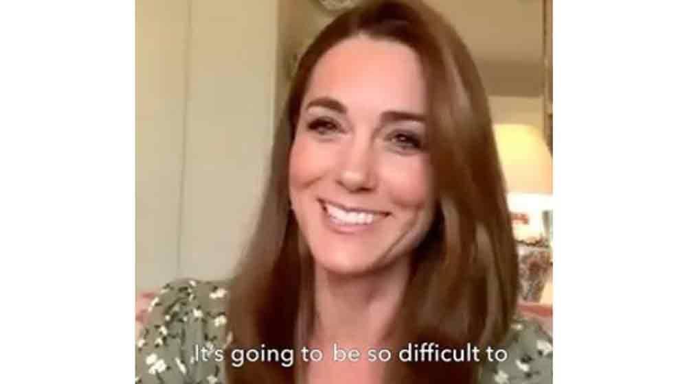 Kate Middleton usa vestido de R$ 74 em reunião virtual. Foto: Reprodução Instagram