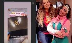 """Anitta recebe surpresa de Mariah Carey e cantora internacional revela: """"te amo"""""""