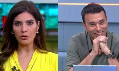 Os jornalistas Andreia Sadi e André Rizek serão pais de gêmeos