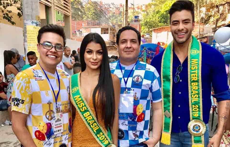 Miss Brasil Juliana Malveira participa de ações solidárias no Morro do Socó em São Paulo e em Manaus no Amazonas em prol de crianças carentes Foto: Divulgação