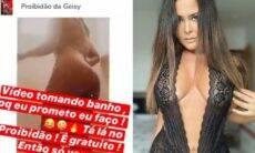 """Geisy Arruda posta vídeo tomando banho em """"grupo proibidão"""" e viraliza na web"""