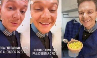 """Michel Teló revela que leva marmita para as gravações do The Voice: """"Thais cozinhou"""""""