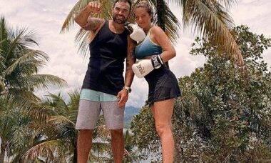 "Giovanna Ewbank faz treino com personal fighting, Chico Salgado: ""a mãe ta on"""