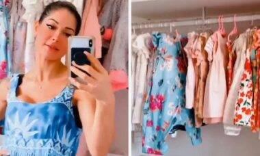 Mayra Cardi mostra closet feito para sua filha, Sophia, de dois anos