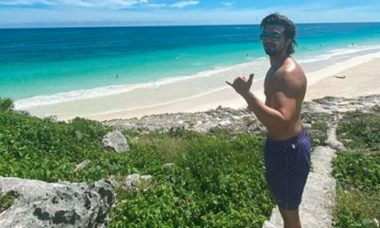 Novo solteiro do pedaço, Luan Santana curte viagem em Tulum, no México