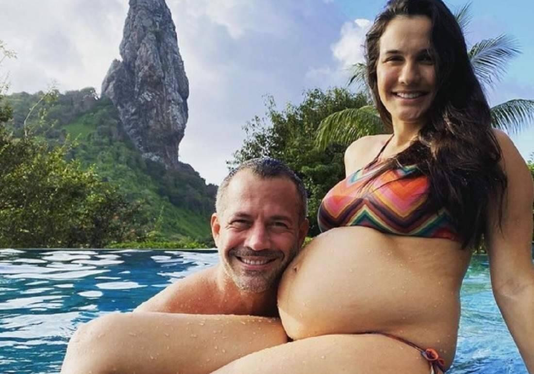 Malvino Salvador e Kyra Gracie se despedem da viagem em família para Fernando de Noronha