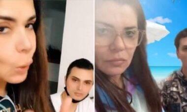 "Mara Maravilha posta vídeos divertidos com noivo e diz: ""vai ter que casar, eu tô intimando"""