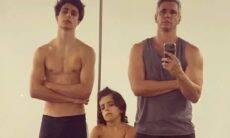 """Márcio Gomes posta foto com os filhos após treino: """"será que esse trio é brabo?"""""""
