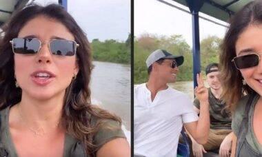 Paula Fernandes e Cauã Reymond viajam em grupo para o Pantanal para conhecer mais o bioma