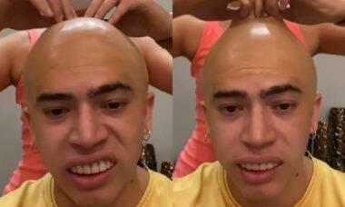 Whindersson brinca em vídeo que aparece careca e fãs apontam indireta para Luísa Sonza e Vitão