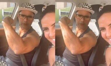 """Zezé di Camargo exibe músculos para a noiva, Graciele Lacerda: """"para te proteger"""""""