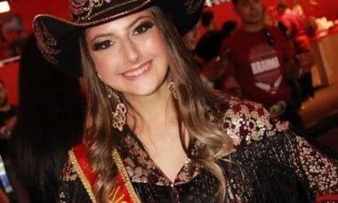 Maria Eduarda Catão, a Princesa do Rodeio de Jaguariúna, morre aos 21 anos. Foto: Reprodução Facebook