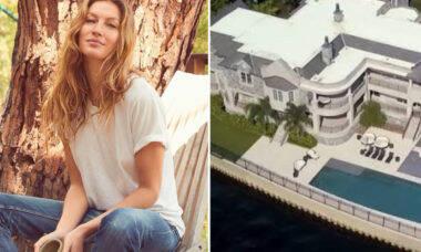 Gisele Bündchen aluga mansão por R$ 407 mil