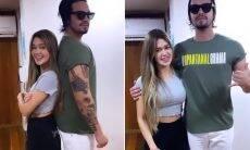 Novo casal? Franciny Ehlke e Luan Santana brincam com diferença de altura