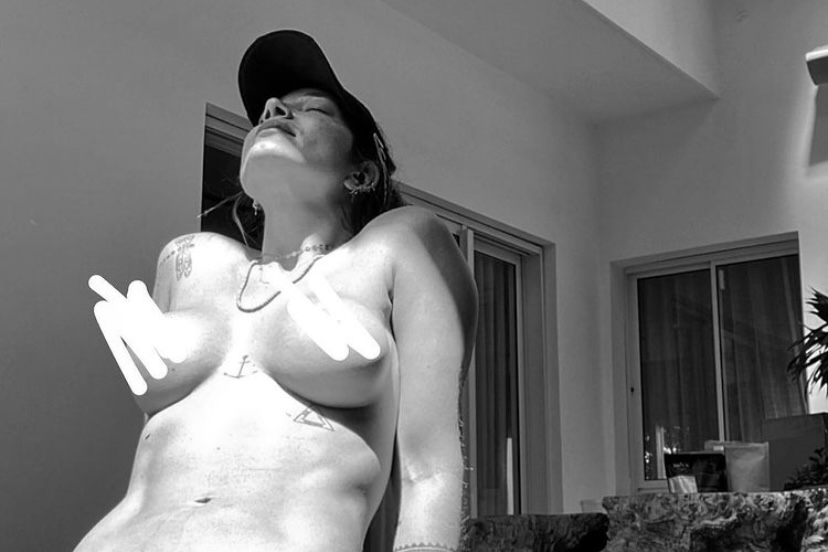 "Gabriela Pugliesi publica foto topless: ""Minha laje, minhas regras"""
