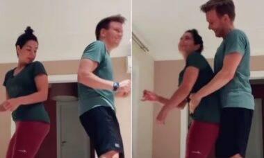 "Michel Teló faz ""dança do acasalamento"" para esposa e diverte seguidores"